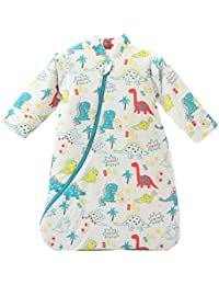 Chilsuessy Baby Sleeping Bag with Detachable Sleeves Winter Thickened (L(Length:100cm), Dinosaur)