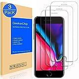 GeekerChip Vetro Temperato iPhone 8/7 Pellicola Protettiva[3 pack], Pellicola Protettiva Schermo in Vetro Temperato per iPhone 8/7