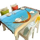 HUANZI Tischdecken Runde Anti-Flecken 3D Sea Swing Digitaldruck Rechteckig/Rund Staubdicht Tischplatte Abdeckung, Blue, 178cmx178cm