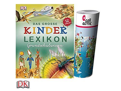 Unbekannt Das große Kinderlexikon Grundschulwissen (Gebundenes Buch) + gratis Kinder-Weltkarte