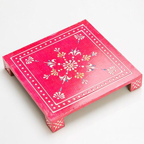 Rusticity Holz Räucherstäbchen Pooja Chowki/Altar Tisch | handgefertigt | - Handgefertigte Tische