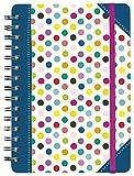 moses. 26121 Notizbuch Dots DIN A5, 150 Seiten, liniert, kariert und blanko