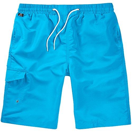 Brandit Uomo Costume da Bagno Turquoise Taglia S/M