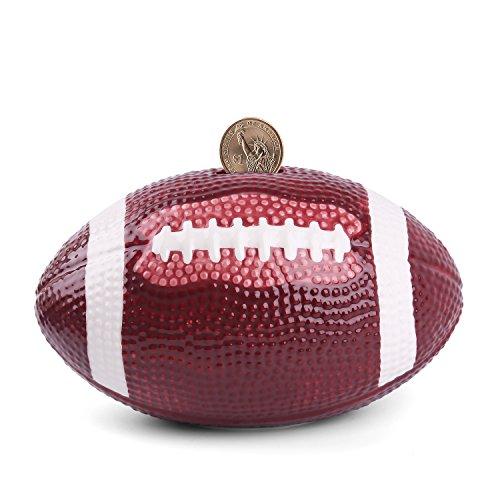 sparschwein keramik - fußball Spardosen münze Bank - 5 Designs für Wahl Golf/Basketball/Fussball/Rugby/Hockey 6,5- PEHOST