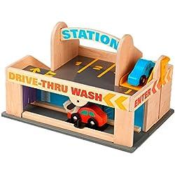 Melissa & Doug - Estación de servicio y garaje de estacionamiento (19271)