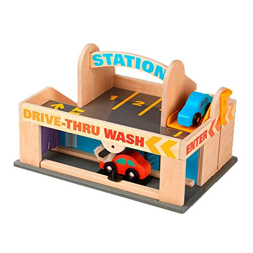 melissa-doug-service-station-parking-garage-with-2-wooden-cars-and-drive-thru-car-wash
