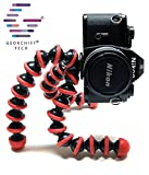 #10: GEORCHIFF® Flexible Gorilla Tripod Light Weight for Digital Camera, DSLR & Smartphones with Universal Mobile Holder (RED) [ 10 inch ]
