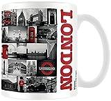 Pyramid Generic London Red Collage 11oz/315ml Kaffeetassen