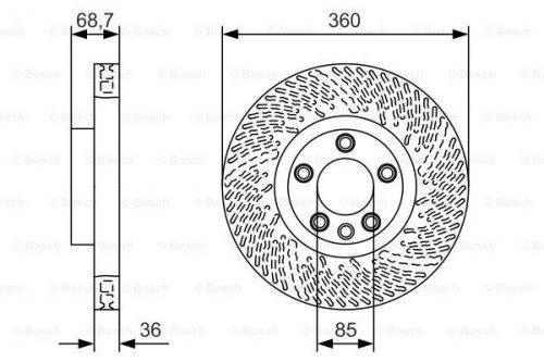 Bosch BD2014 Disque de frein
