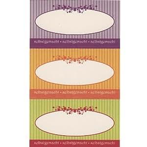 30 st ck gastro etiketten aufkleber f r gl ser selber beschriften haushaltsetiketten einmachglas. Black Bedroom Furniture Sets. Home Design Ideas