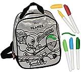 Unbekannt Bastelset zum Bemalen - Rucksack - Disney Planes Flugzeuge Dusty - abwischbar groß - für Kinder Kindertasche Tasche Stoff Jungen
