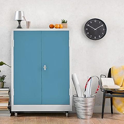 Möbelfolie blau-grau einfarbig - Meerblau - Klebefolie für Möbel - selbstklebend, Dekorfolie, Möbelaufkleber, DIY Designfolie, Sticker, Meterware