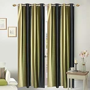 curtains 9 feet set of 2 -Akshya curtains
