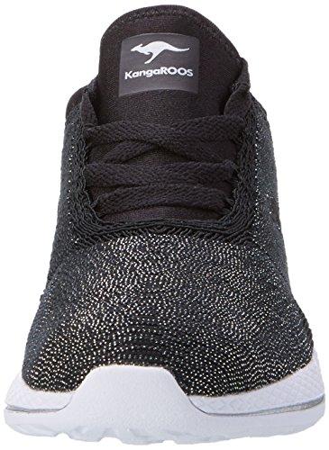 KangaROOS W-517, chaussons d'intérieur femme Schwarz (Black)