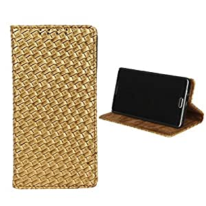 Dsas Leatherate Cover for LG X Power (MAT-GOLDEN)
