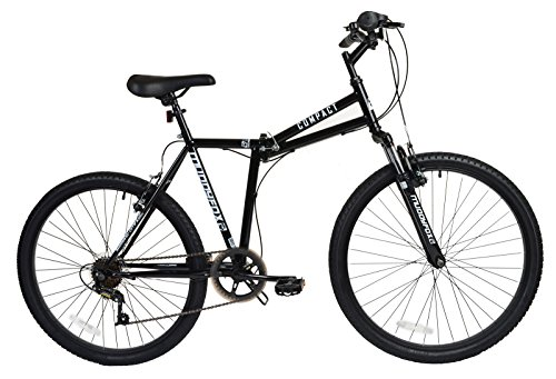 New Mens/Gents Black Big Foot Compact Muddyfox Folding Bikes – Black –