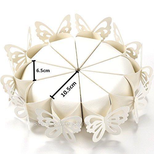 100x coni portariso FARFALLE PERLATO petali portaconfetti bomboniere matrimonio