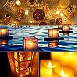 Led Teelicht Led Kerze, Adoric 12 x Led flammenlose Kerzen led Teelicht mit Timer elektrische flackernde batteriebetriebene Kerzen für Halloween Weihnachtsdeko Party Hochzeit, warm weiß - 3