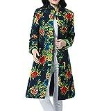 CUTUDE Cappotto Donna Invernale Piumino Trapuntato Capispalla Elegante Giacca Maglione Giubbotto Giacche Cappotto di Velluto Coat (Verde, XL)