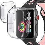PEYOU Hülle für Apple Watch Series 4, 2 Stück 44mm Weiche TPU Schutzfolie Tasche Case Kompletter Schutzfolie 0.3mm HD Klar Hülle für 2018 Apple iWatch Series 4