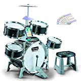 GODNECE Kinder Schlagzeug Spielzeug, Kinder Schlagzeug Set mit Zubehör Kinderschlagzeug ab 3 Jahre