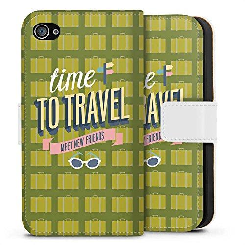 Apple iPhone X Silikon Hülle Case Schutzhülle Urlaub Freunde Spruch Sideflip Tasche weiß