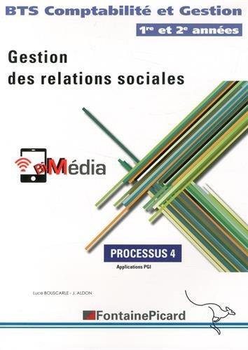 Gestion des relations sociales Processus 4 BTS Comptabilité et Gestion 1re et 2e années : Applications PGI