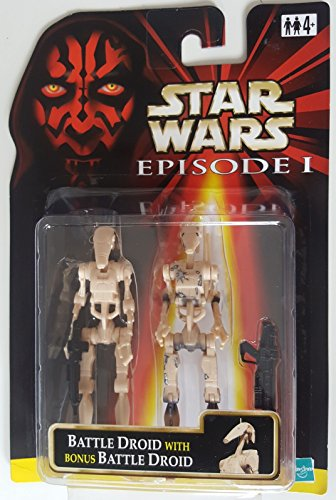 star-wars-episode-1-battle-droid-with-bonus-battle-droid-action-figure-set