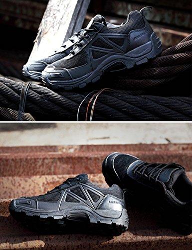 gratuit Soldat Rapid antidérapant Camping Randonnée Montagne tout-terrain Off-road Chaussures Désert Bottes noir