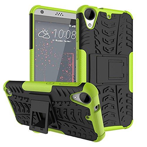 GARITANE Kompatibel mit HTC Desire 530/630 Hülle Case Hybrid 2in1 Defender Schutzhülle Rugged Armor Dual Layer Back Cover mit Ständer für HTC Desire 530/630 (Grün)