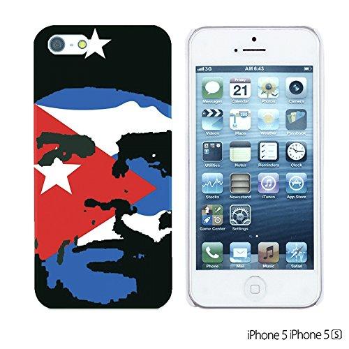 OBiDi - Celebrity Star Hard Back Case / Housse pour Apple iPhone SE / Apple iPhone 5S / 5 - Chaplin Artwork Che Guevara with Flag