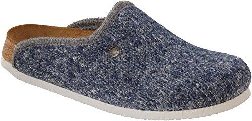 Birki's Amsterdam Herren Clogs Blau (Wool Knit Blue)