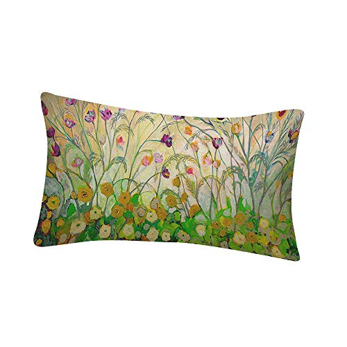 Aiserkly - Funda de cojín Rectangular con Estampado de Flores para sofá,...