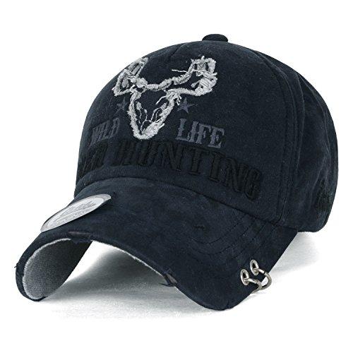 ililily-wild-life-stickerei-augenklappe-ring-trimmen-baumwolle-baseball-cap-trucker-cap-hut-prussian
