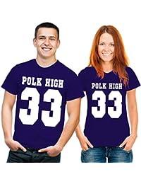 Funshirt Al Bundy Polk High T-Shirt blau weiss