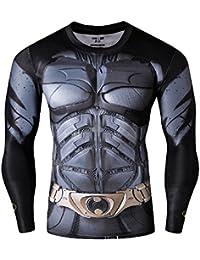 Born2Ride™ Superhero Fancy Dress/Gym/Cycling Short sleeved Compression Baselayer T-Shirt Tops