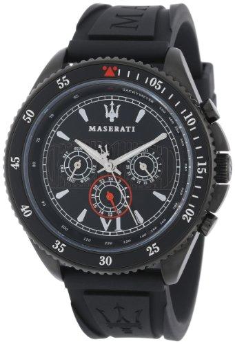 Maserati  R8851101001 – Reloj de cuarzo para hombre, con correa de plástico, color negro