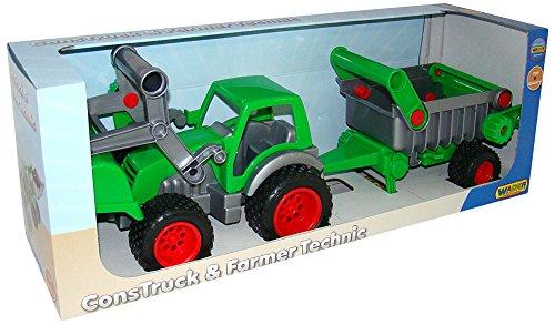 wader-farmer-technic-traktor-mit-frontlader-und-an