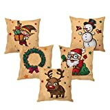 #8: The Purple Tree Christmas Cushion cover ( 5 pieces)