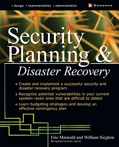 Security Planning and Disaster Recovery (English Edition) por Eric Maiwald