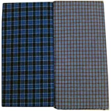 SBNLIFESTYLE Men's Cotton Stitched Lungis (Multicolour, Free Size) - Set of 2 Pc