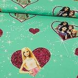 Stoffe Werning Dekostoff Lizenzstoff Barbie und Freundinnen