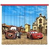 AG Design FCS xl 4315 Rideau voilage pour chambre d'enfant Motif Disney Cars
