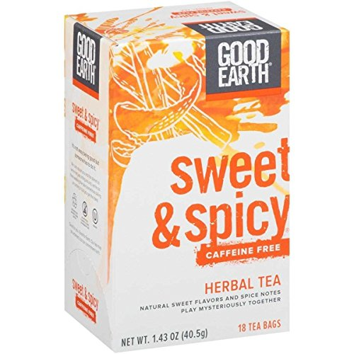 Good Earth Sweet & Spicy Caffeine Free Herbal Tea, 18 Tea bags