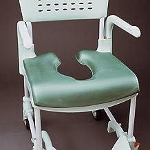 Patterson Medical Chair Clean - Asiento blando caliente para silla de ducha con agujero para inodoro