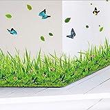 XQWZM Frühling Bunte Blume Gras Schmetterling Sockelleine DIY Hauptabziehbild Baseboard Wandaufkleber Küche Bad Möbel Hochzeit 137 * 41 cm