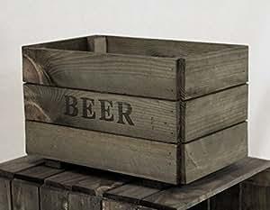 Boîte ou une bouteille de bière-Boîte de rangement-Bois-Pomme/Fruits-Cagette en bois Inscription personnalisable