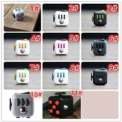 Fidget Cube With Case Desk Toy Set Clicker Joystick Buttons For Stress Anxiety Focus ADHD Autism Adults Kids Students Office Gift Pack (5#Rose Red) - 6