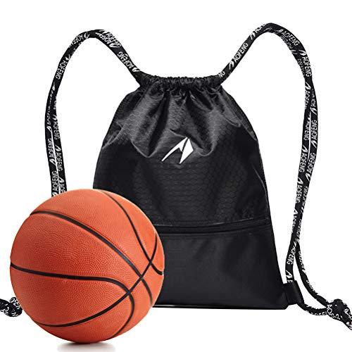 LIOOBO Basketball Kordelzug Sport Rucksack Unisex Sporttasche Basketball Ball Halter für Frauen und Männer