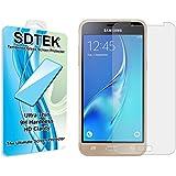 SDTEK Samsung Galaxy J3 (2016) Verre Trempé Protection écran Résistant aux éraflures Glass Screen Protector Vitre Tempered Protecteur